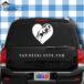 Horse Heart Car Window Decal Sticker