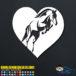 Horse Heart Decal Sticker