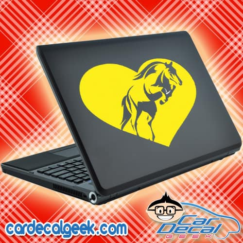 Horse Heart Laptop MacBook Decal Sticker