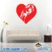 Horse Heart Wall Decal Sticker