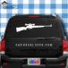 Hunting Rifle Car Window Decal Sticker