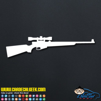 Hunting Rifle Decal Sticker