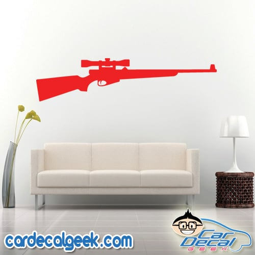 Hunting Rifle Wall Decal Sticker