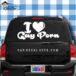 I Love Gay Porn Car Window Decal Sticker