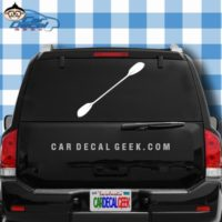 Kayak Paddle Car Window Decal Sticker
