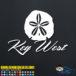 Key West Sand Dollar Decal Sticker
