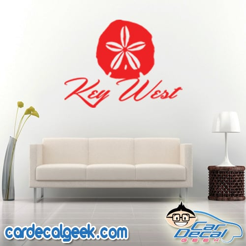 Key West Sand Dollar Wall Decal Sticker