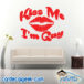 Kiss Me Im Gay Wall Decal Sticker