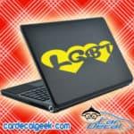 Lgbt Double Heart Laptop MacBook Decal Sticker