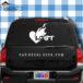 Lgbt Heart On Fire Car Window Decal Sticker