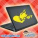 Lgbt Heart On Fire Laptop MacBook Decal Sticker