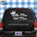 Little Miss Hot Mess Car Window Decal Sticker