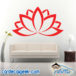 Lotus Flower Wall Decal Sticker