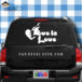 Love Is Love Flaming Heart Gay Car Window Decal Sticker