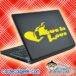Love Is Love Flaming Heart Gay Laptop MacBook Decal Sticker