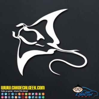 Manta Ray Decal Sticker