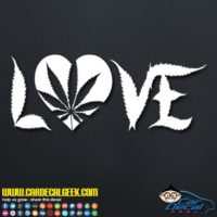 Marijuana Heart Love Decal Sticker
