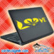 Marijuana Heart Love Laptop MacBook Decal Sticker