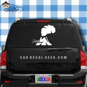 Maui Volcano Car Window Decal Sticker
