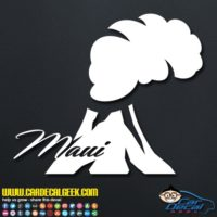 Maui Volcano Decal Sticker