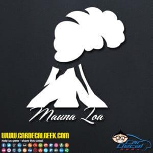 Mauna Loa Volcano Decal Sticker