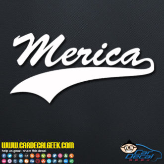 Merica Athletic Decal Sticker