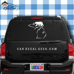 Michigan Bear Hunting Car Window Decal Sticker