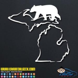 Michigan Bear Hunting Decal Sticker