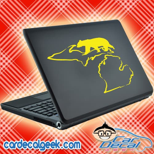 Michigan Bear Hunting Laptop MacBook Decal Sticker