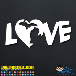 Michigan Heart Love Decal Sticker