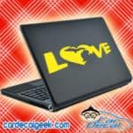 Michigan Heart Love Laptop MacBook Decal Sticker