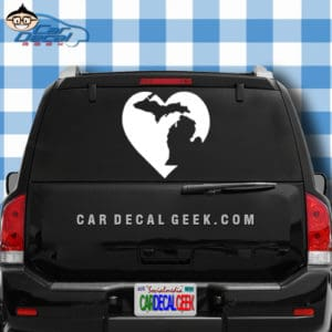 Michigan Heart Car Window Decal Sticker