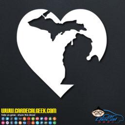 Michigan Heart Decal Sticker