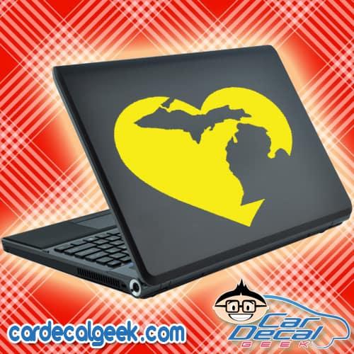 Michigan Heart Laptop MacBook Decal Sticker