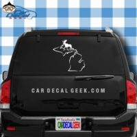 Michigan Moose Hunting Car Window Decal Sticker