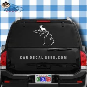 Michigan Moose Hunting Car Window Decal Sticker