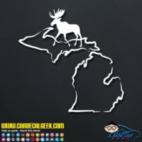 Michigan Moose Hunting Decal Sticker