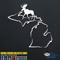 Michigan Moose Hunting Decal Sticker
