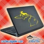 Michigan Moose Hunting Laptop MacBook Decal Sticker