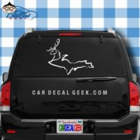 Michigan UP Deer Car Window Decal Sticker