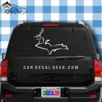 Michigan UP Deer Car Window Decal Sticker