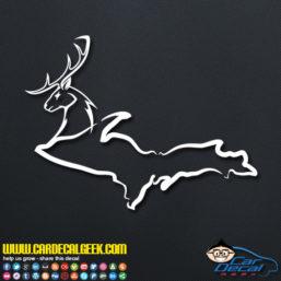 Michigan UP Deer Decal Sticker
