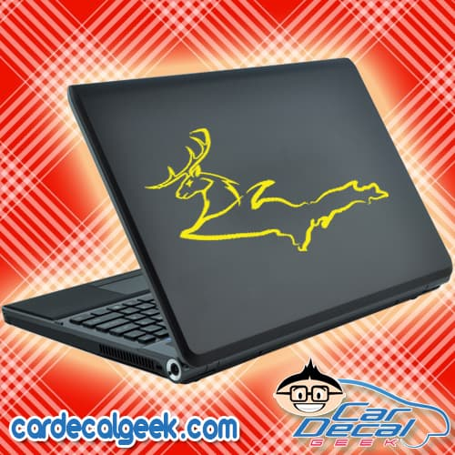 michigan-up-deer-united-states-laptop-decal-sticker