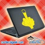Middle Finger Laptop MacBook Decal Sticker
