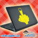 Middle Finger Laptop MacBook Decal Sticker