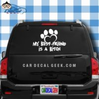 My Best Firend Is A Bitch Dog Car Window Decal Sticker