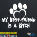 My Best Firend Is A Bitch Dog Decal Sticker