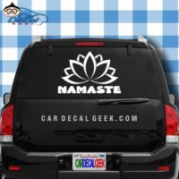 Namaste Lotus Flower Car Window Decal Sticker