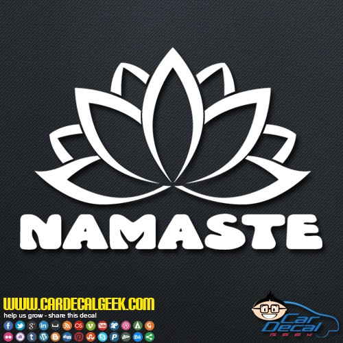 Namaste Lotus Flower Decal Sticker