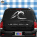 Ocean Wave Car Window Decal Sticker